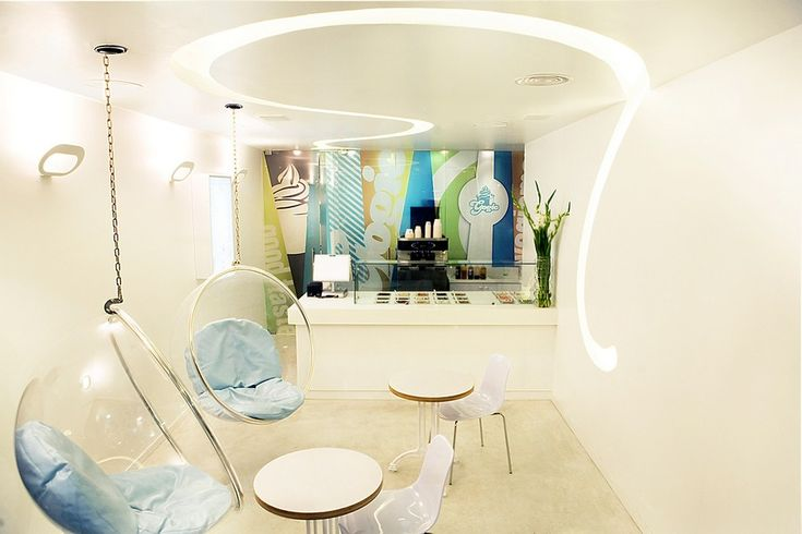 architecture modern bar design Visual Tricks Enhancing Original Yogurt Bar Design in Israel
