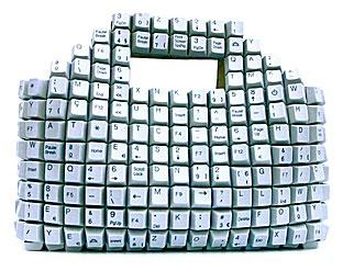 Recycled Keyboard Bag : TreeHugger