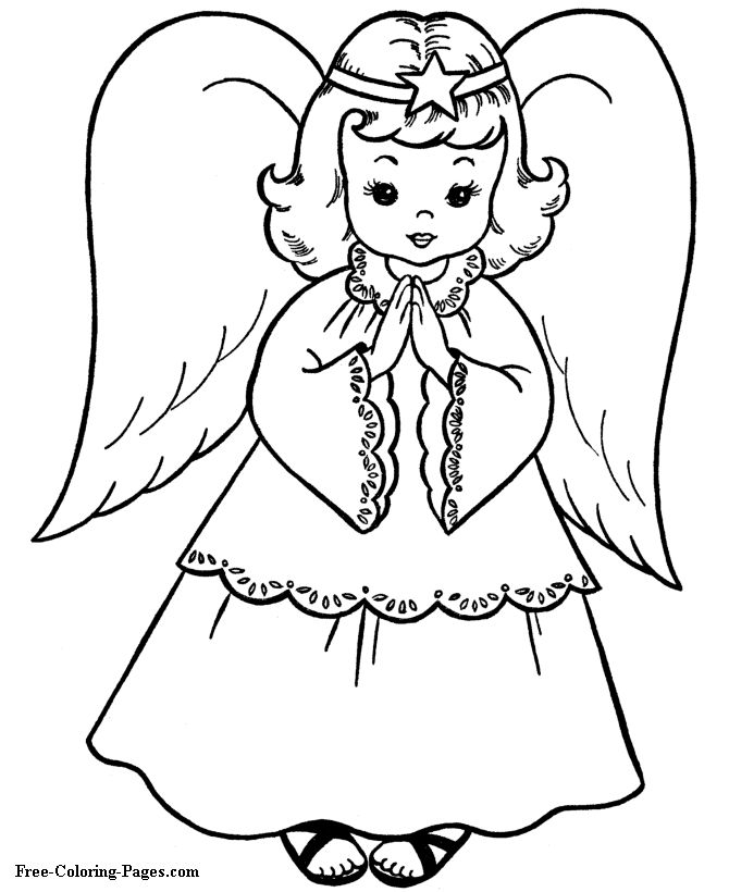 Christmas - Angels coloring pages