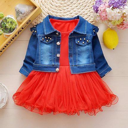 Комплект Джинсовая куртка + ПАЧКА 2 Шт. Для Девочки (1-4г) – Optimprice