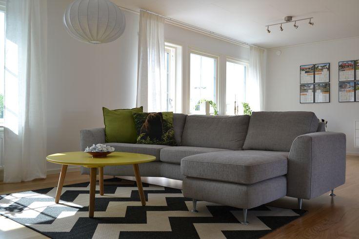 Vardagsrum i vår populära enplansmodell Tyr.