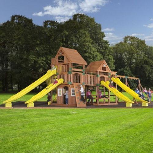 Backyard Garden Discovery Safari Cedar All Cedar Swing Set Kids All Include Kit #BackyardDiscovery
