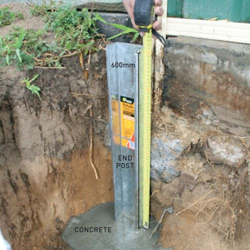 step one how to install a retaining wall