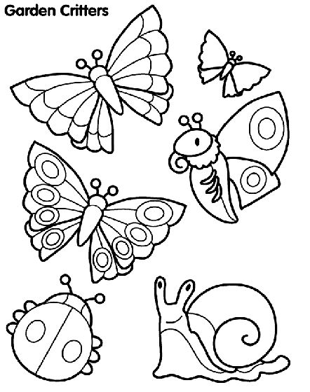 Check Out This Great Garden Critters Free Coloring Page
