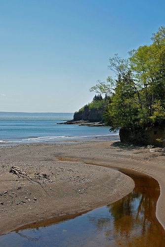 Bay of Fundy near Cape d'Or, Nova Scotia, Canada.  Can't wait to experience low tide on the mud flats here!