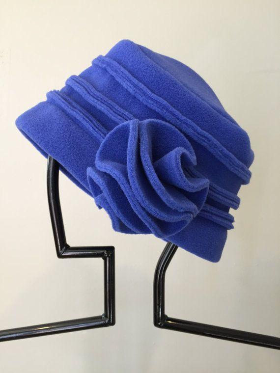 SALE  Cameleon PolartecR fleece flower Greta hat  by CameleonEtc