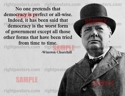 Image result for winston churchill quotes democracy