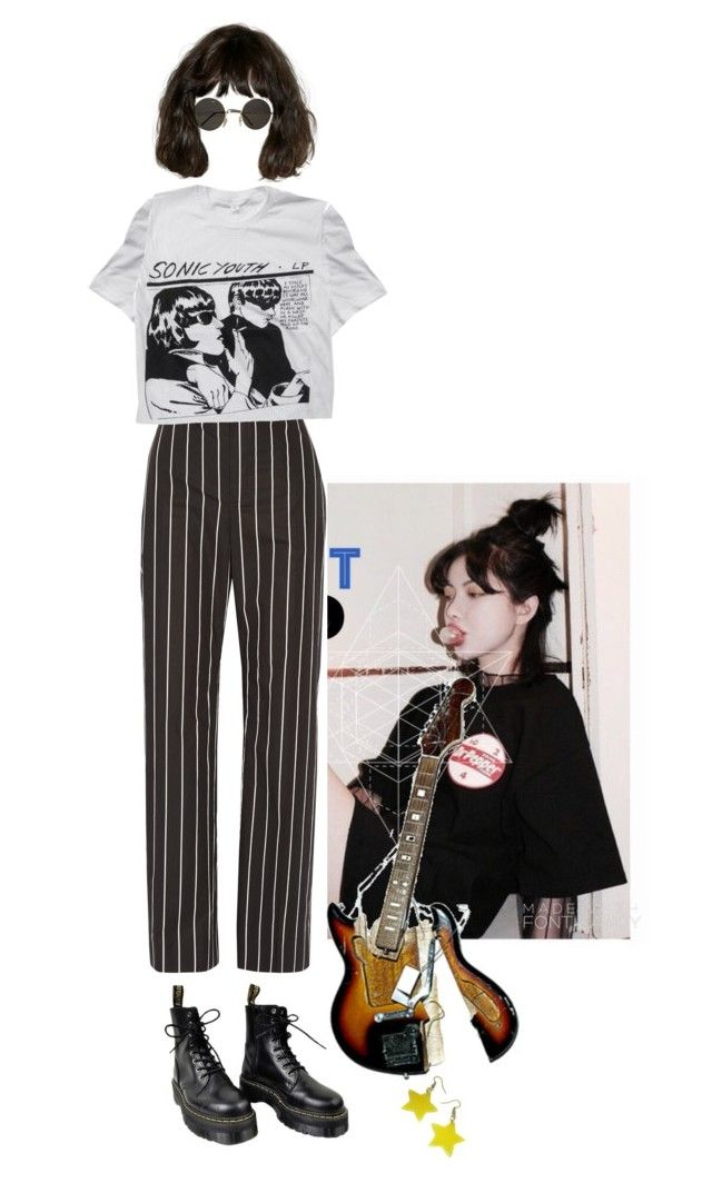 """""""Untitled #115"""" by stomey ❤ liked on Polyvore featuring Balenciaga, Dr. Martens and Floyd"""