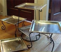DIY Tiered Serving Trays Ideas inside. Candelabras and Plant Stands & 55 best Cake and cupcake stand DIY images on Pinterest | Petit fours ...