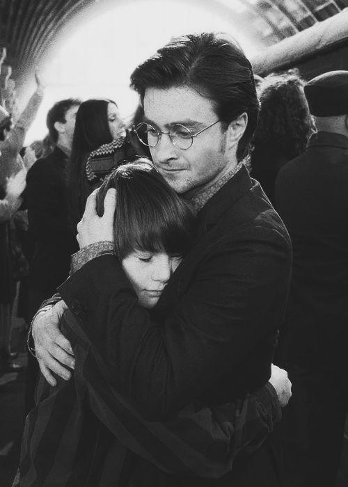 Dan as an older Harry and his son Albus Severus