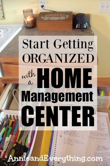 Feeling disorganized and out of control?  The best way to begin getting organized is to set up a home management center; then from there you can tackle everything else!  Create yours today to start becoming a more organized you!