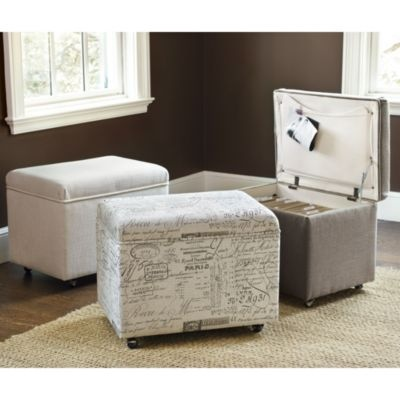 File Storage Ottoman Ballard Designs Great For Small