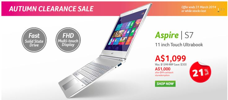 The Acer Store now features a variety of new notebooks and laptops for you and your home or business. You can turn to Acer for the best warranty offer on any purchase. And now you can enjoy hot deals for the month of May.
