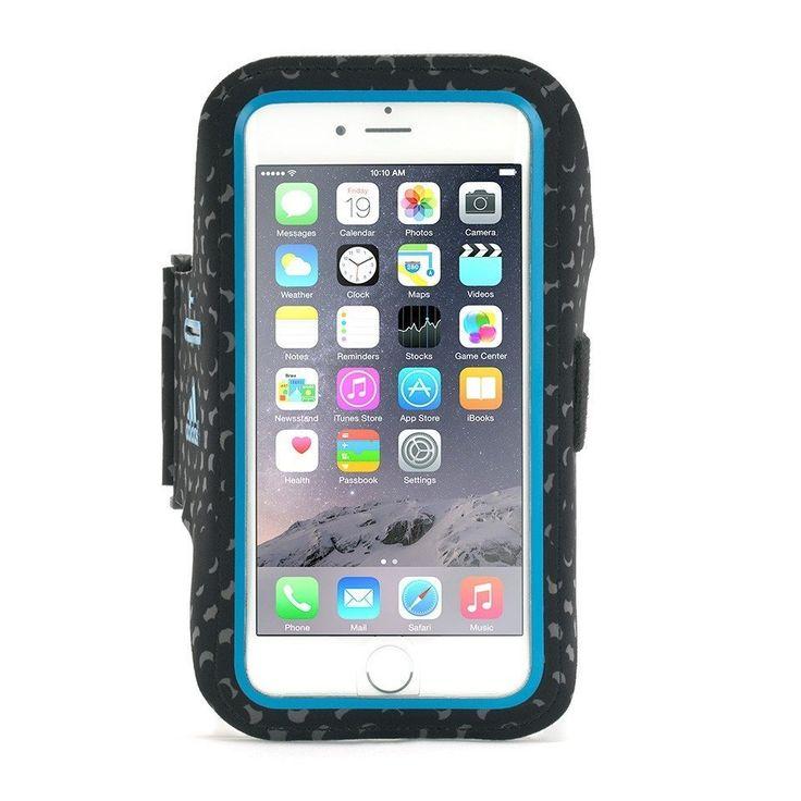 Griffin Adidas Armband - неопренов спортен калъф за ръка за iPhone 7 Plus, iPhone 6S Plus, iPhone 6 Plus (черен-син):… www.Sim.bg