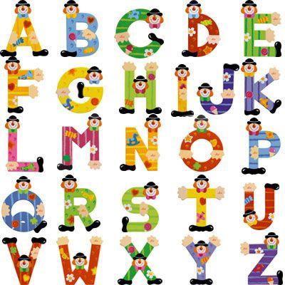 Les lettres de l'alphabet en bois pour personnaliser la chambre de votre enfant avec son prénom sur  sa porte ...