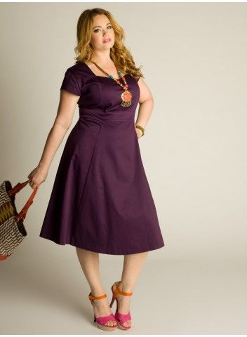 plus size purple cotton dress.....but in red, yellow, or black