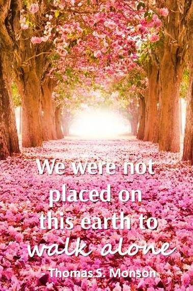 We were not placed on this earth to walk alone