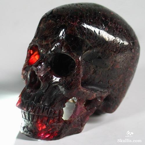 Garnet Crystal Skull
