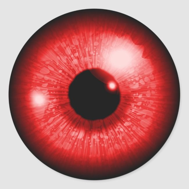 Red Eye Classic Round Sticker Zazzle Com In 2021 Red Eyes Rare Eye Colors Red Eyes Contacts