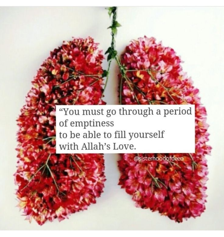 Filling one's empty heart with Allah's love.