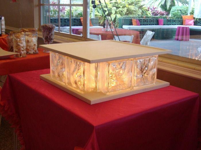Glass Block Cake Stand