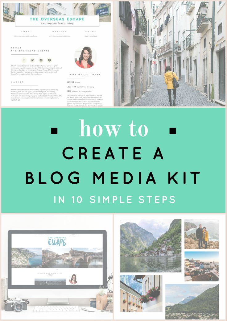 How to Create a Blog Media Kit in 10 Simple Steps - The Overseas EscapeThe Overseas Escape