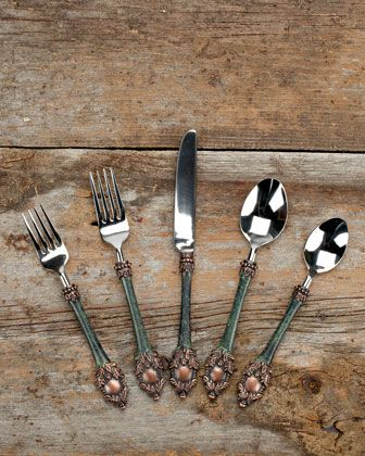 20-Piece Heirloom Flatware Service by G G Collection at Horchow.