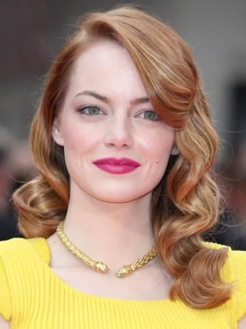 Emma Stone Pin Curl Waves Wig