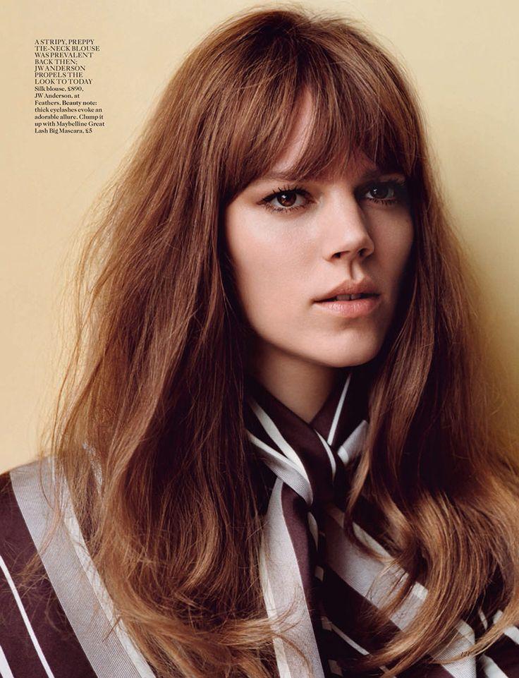 Freja Beha Erichsen by Alasdair McLellan for Vogue UK January 2015 | The Fashionography