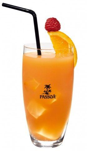 Cocktail Manger: Cava + Passoa + Orange juice