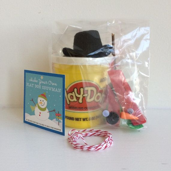 Stocking Stuffer Kids Stocking Stuffer Christmas Gift Christmas Gift Bag Christmas Party Favor Snowman Kit Play Doh Snowman Kit