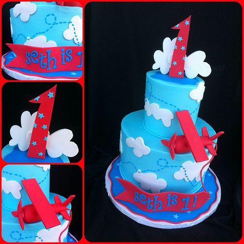 Seth's Airplane Cake
