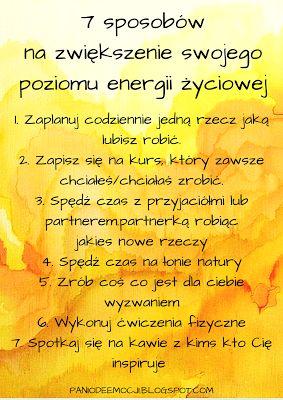Jak zwiększyć energię życiową?