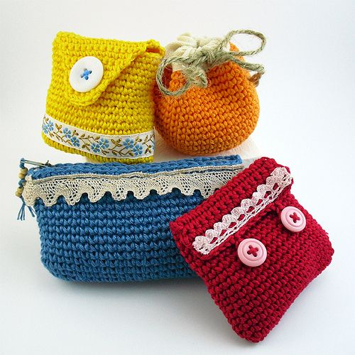 crochet purses - portamonete all'uncinetto