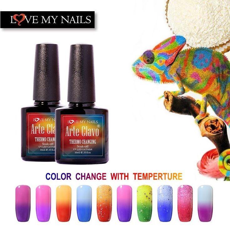 Arte Clavo Temperature Chameleon Thermal Color Change Soak Off  UV Gel Polish