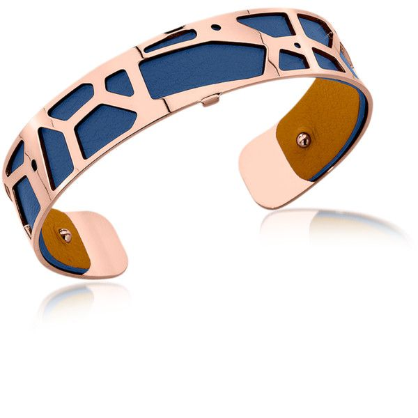 Les Georgettes Designer Bracelets Small Giraffe Rose Gold Plated... ($105) ❤ liked on Polyvore featuring jewelry, bracelets, stackers jewelry, navy blue jewelry, hinged bracelet, rose gold plated jewelry and polish jewelry