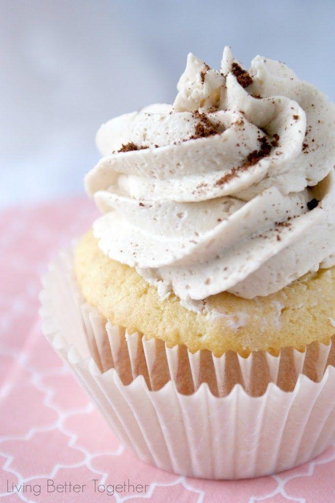 French Vanilla Cappuccino Cupcakes | www.sugarandsoul.co