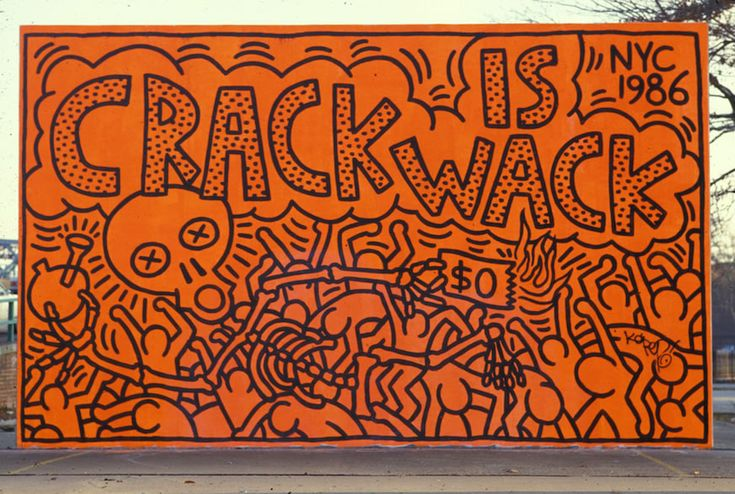 Second crack is wack mural street art mural for Crack is wack keith haring mural