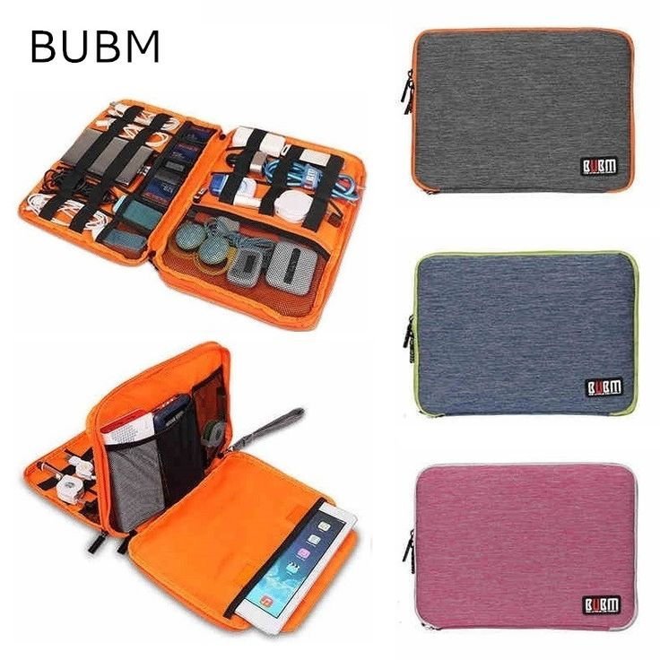 """2017 New Brand BUBM Storage Bag For ipad Air, Pro 9.7 inch, Digital Accessories Sleeve Case For 9"""" Tablet, Free Drop Shipping"""