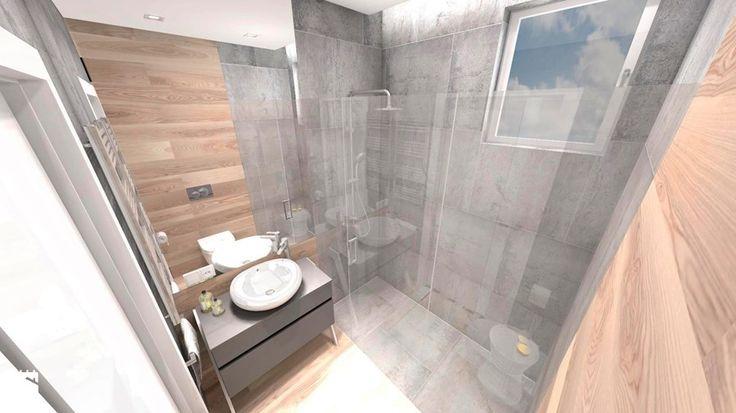 DOM Z WIDOKIEM NA WISŁĘ - Mała łazienka w domu jednorodzinnym z oknem, styl nowoczesny - zdjęcie od DALMIKO DESIGN Pracownia Projektowa