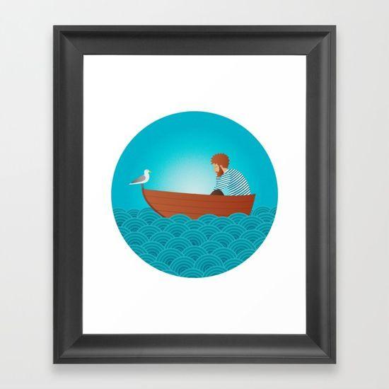 Sad sailor Framed Art Print