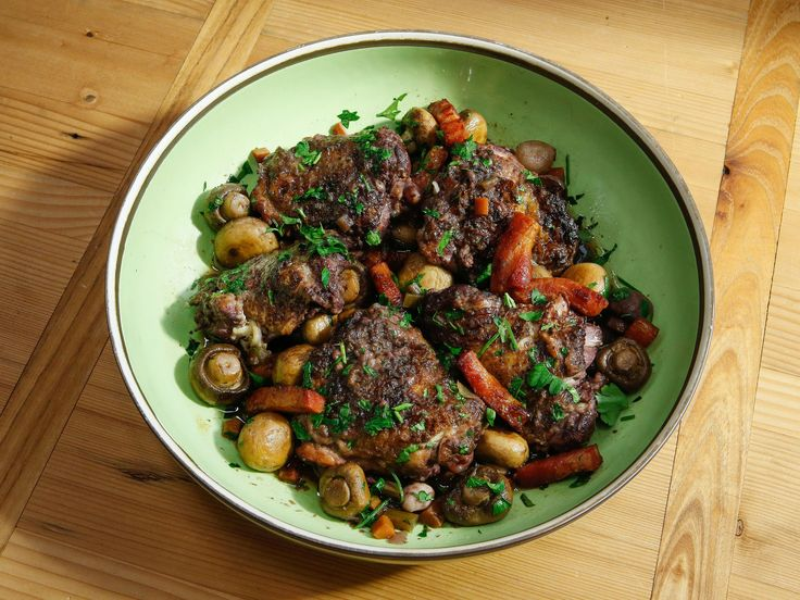 Coq au Vin recipe from Geoffrey Zakarian via Food Network