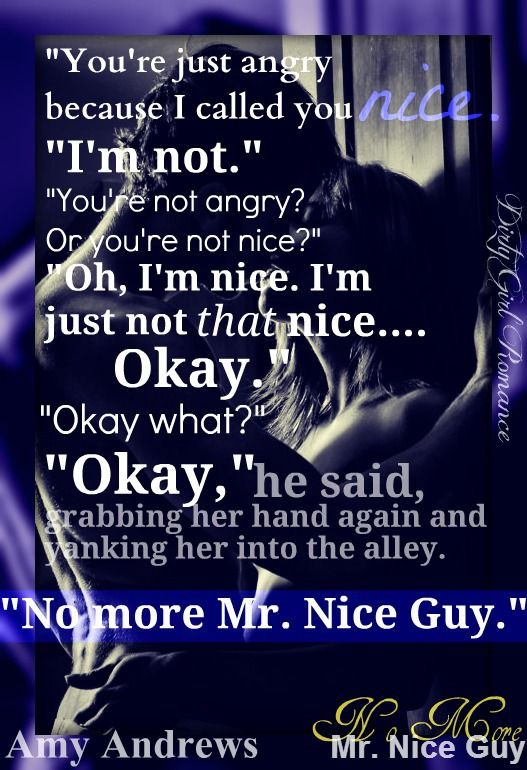 No More Mr. Nice Guy by Amy Andrews #DirtyGirlRomace