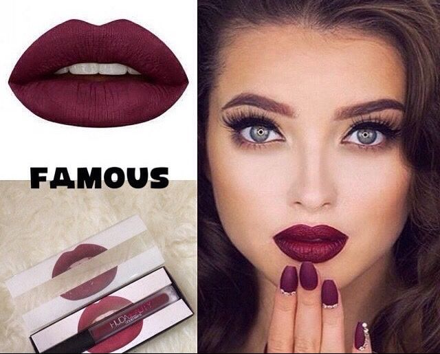 Lipstick HUDA BEAUTY  Famous  Nuance violine https://www.fashion-emplettes.com/product-page/lipstick-huda-beauty-famous  livraison gratuite partout en France !