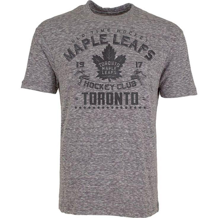 Toronto Maple Leafs Old Time Hockey Men's Tonal Granite S/S Tee - shop.realsports