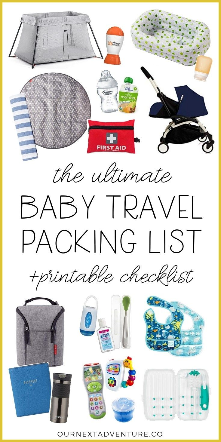 The Ultimate Packing List for Baby Travel (+printable checklist!)