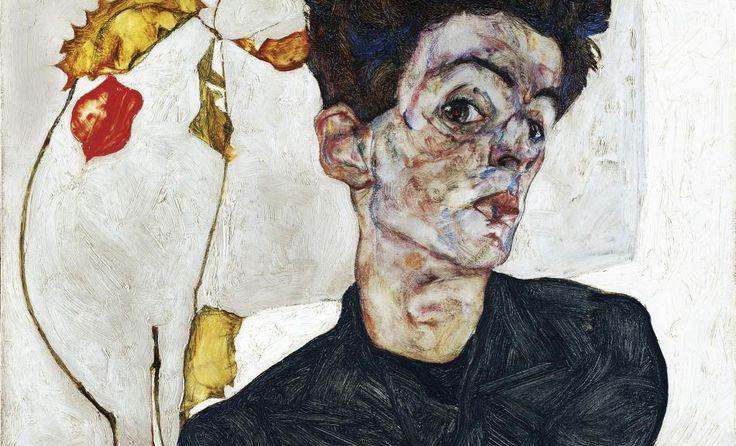 self-portrait with chinese lantern plant is gemaakt in 1912 door Egon Schiele. ik vind dit schilderij niet super mooi maar het spreekt me wel aan. het gezicht ziet er grappig uit. en de plant zorgt voor de kleur in het schilderij. ik vind het bloesje/ t-shirt wat de jongen aan heeft mooi gedaan. door de strepen wordt het wat dynamischer. het gezicht ziet er wel ruimtelijk uit door de kleuren en omdat zijn haar afgesneden is uit het schilderij