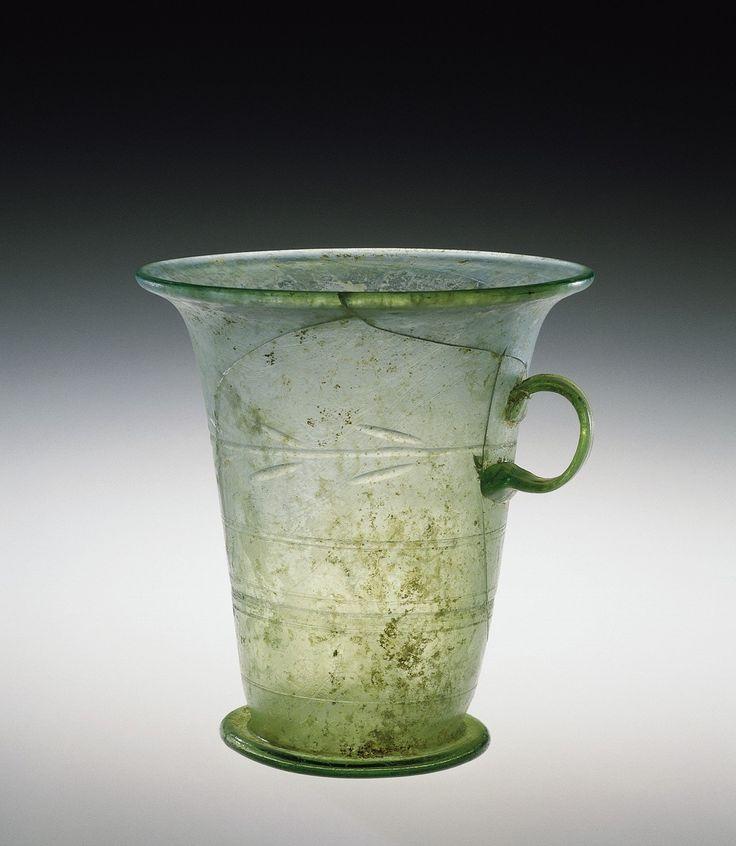 Mug or Measure, Roman Empire between 1-199|Corning Museum of Glass #art #glass #green