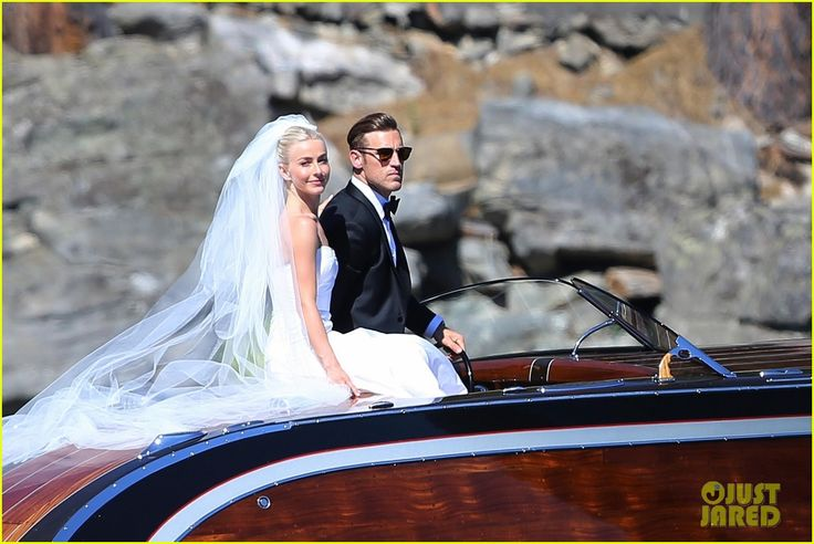 Julianne Hough and Brooks Laich on their wedding day... just like James Bond