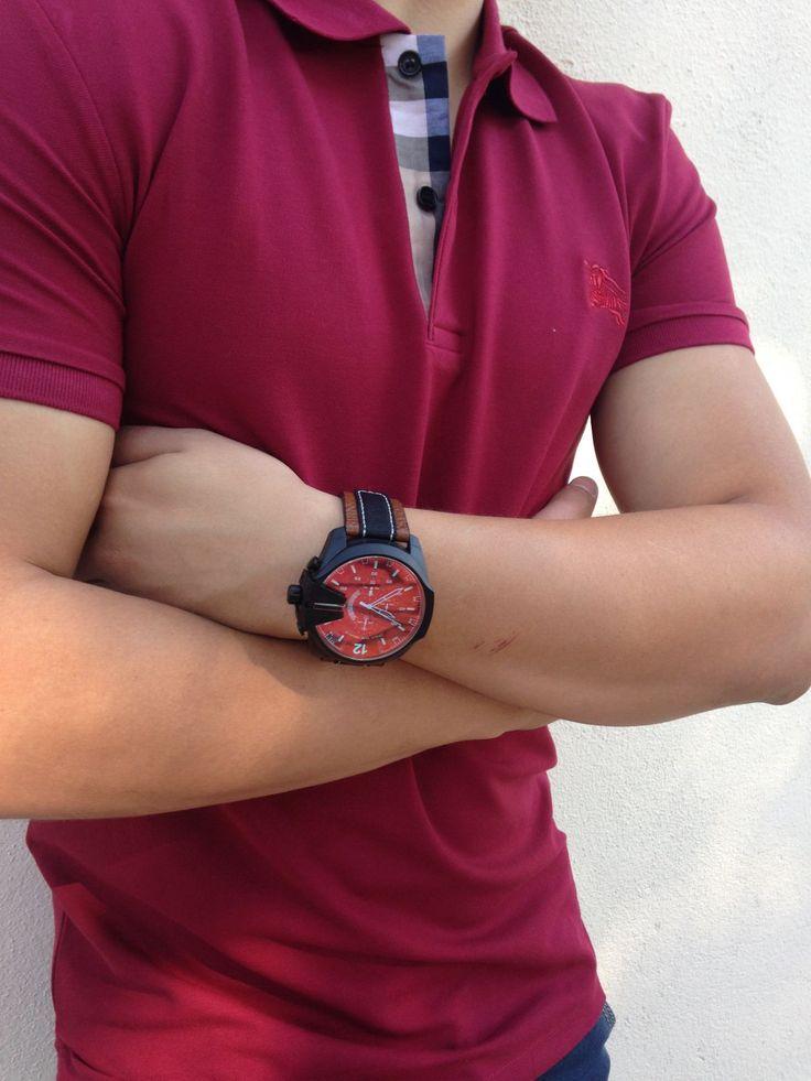 Mens Diesel Mega Chief Chronograph Watch DZ4305